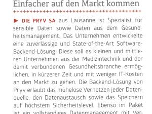 Pryv at Swiss Medtech Industry 2015