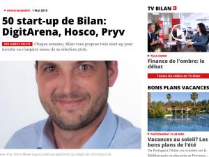 Pryv @Bilan's Top50: Bilan magazine a dévoilé sa sélection de 50start-up suisses pour investir